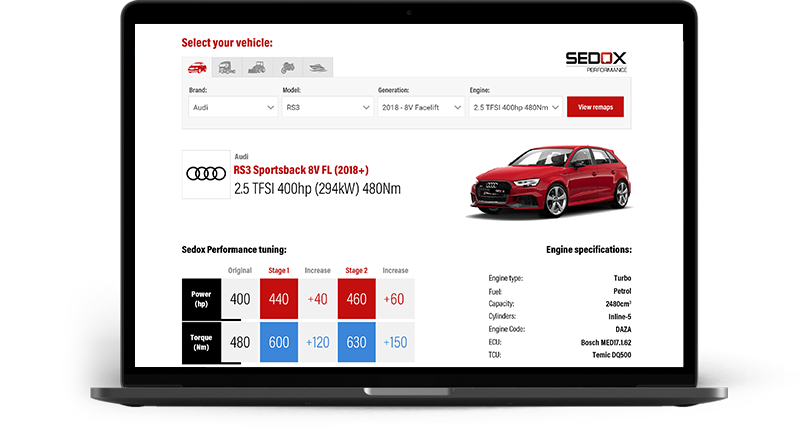 Vehicle Catalogue API by Tuning Files | Vehicles Technical Specifications